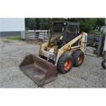 Bobcat / Clark 743 skidloader, 10-16.5 tires, hand & foot controls, hyd couplers, Kubota 4 cyl