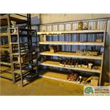 "SECTION 24"" X 96"" X 72"" HIGH ADJUSTABLE BEAM LIGHT DUTY STEEL SHELVING WITH (1) SECTION 18"" X 36"""