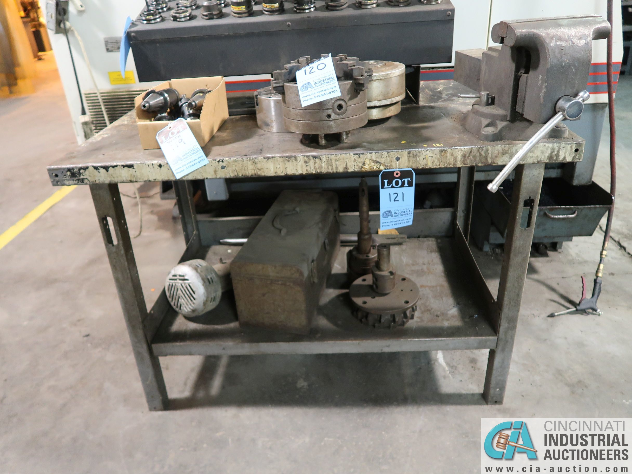 "STEEL BENCH WITH 8"" WILTON BENCH VISE"