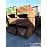 "36"" X 34"" X 20"" DEEP HEAVY DUTY STACKABLE CORRUGATED STEEL TUBS"