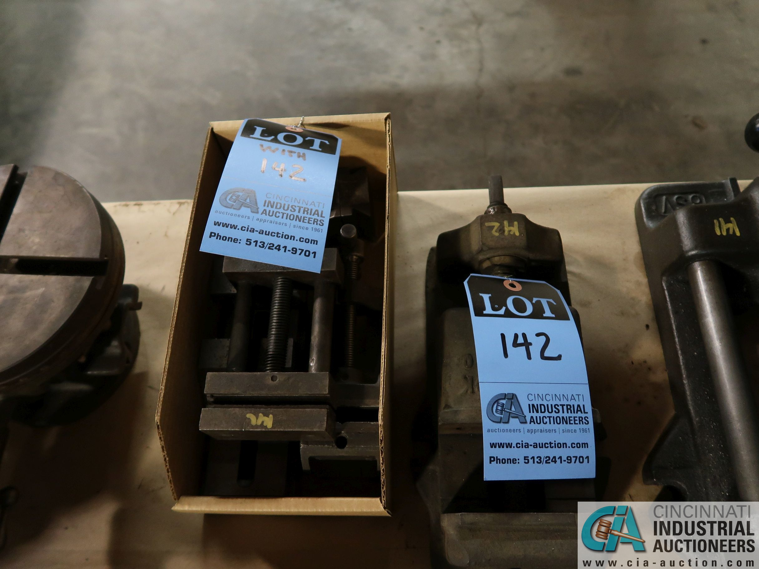 "(LOT) 2-1/2"" - 3-1/2"" PRECISION VISES (3 TOTAL)"