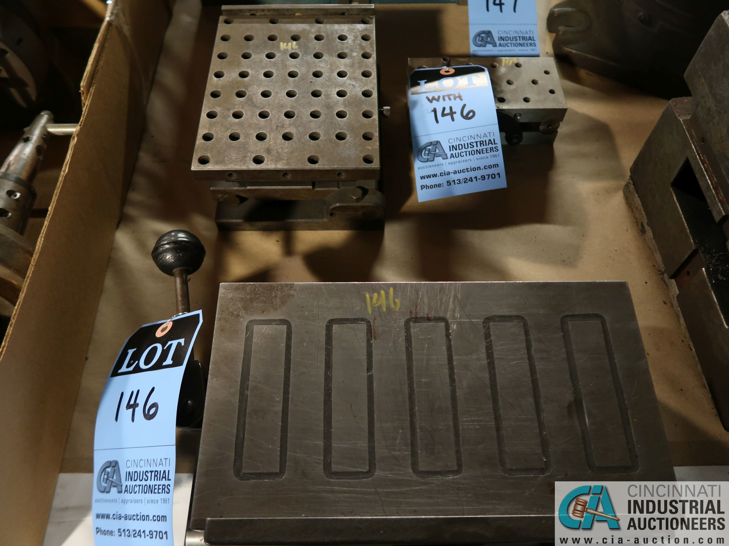 "6"" X 10-3/4"" MAGNA-SINE MODEL B10 MAGNETIC SINE PLATE WITH 6"" X 7-1/2"" & 3"" X 6"" DRILLED AND"