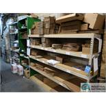 "SECTIONS 24"" X 96"" X 72"" HIGH ADJUSTABLE BEAM LIGHT DUTY SHELVING WITH (2) SECTIONS MISC. SIZE STEEL"
