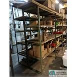 "SECTION 24"" X 145"" X 84"" HIGH & (1) SECTION 24"" X 136"" X 96"" HIGH WELDED ANGLE IRON MULTI-LEVEL WOOD"