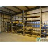 "SECTIONS 40"" X 92"" X 13' HIGH ADJUSTABLE BEAM MULTI-SHELF BOLT TOGETHER PALLET RACK WITH (1) SECTION"