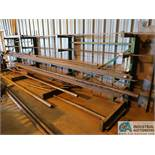 "SECTION 18"" ARM X 18' LONG X 62"" HIGH WELDED SINGLE SIDE CANTILEVER RACK WITH MISC. STEEL STOCK"