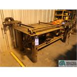 "48"" X 96"" X 36"" HIGH X 1/2"" THICK STEEL TOP PLATE HEAVY DUTY STEEL WELDING TABLE WITH 6"" WILTON VISE"