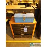 FIVE-DRAWER PORTABLE TOOL CHEST WITH (2) TOOLBOXES