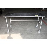 WORKTABLE, 30 x 72, stainless steel, w/stainless steel legs & casters