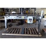 CONVEYOR, ALLFILL MDL. 800, stainless steel, guardrails, Plexiglas top, 3.25 Poly tabletop belting