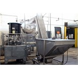 COMPLETE CAPPING SYSTEM, PMC MDL. RC8000, including 8-head rotary screw & snap capper (modified