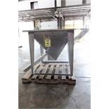 HOPPER, FLEXICON, 3' x 3', stainless steel, tapered bottom, custom stainless steel box