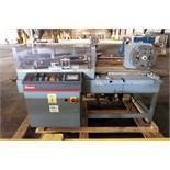 AUTOMATIC L-BAR SHRINK WRAPPER REWINDER UNIT, SHANKLIN MDL. A27A new 2001, PLC controls, S/N A0125