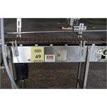 TABLE TOP CONVEYOR, CONFAB SYSTEMS MDL. CFS, 4-1/2W. x 42L. Deltrin, variable spd. drive