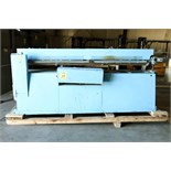 AUTOMATIC HORIZONTAL ROLL THRU HOT & COLD GLUE CAN LABELER, BURT MDL. 704S, Valco complete cold glue