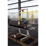 CONTINUOUS BAG SEALER, BAND RITE MDL. 6000424, adj. carbon steel stand, S/N 3121ML
