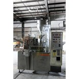 AUTOMATIC ROTARY PLASTIC TUBE FILLER, NORDEN MDL. NM620HA, stainless steel feed hopper, mixed