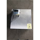 BENCH TOP SCALE, FAIRBANKS 200 LB. CAP., Mdl. PLBHR500H3A, 23.5 x 23.5 stainless steel load cell