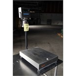 DIGITAL TABLE SCALE, GSE MDL. 350, 200 lb. cap., stainless steel, 16 x 19 platform