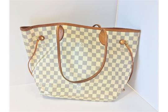 A Louis Vuitton Neverfull In Damier Azur Date Code SP Cm - How to make an invoice in word louis vuitton online store