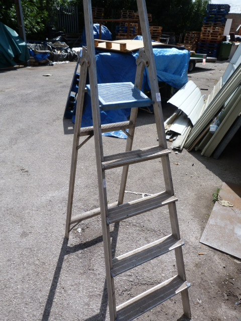 Lot 11 - Set of Four Tread Aluminium Step Ladders