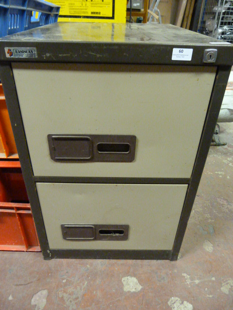 Lot 60 - Two drawer Metal Filing Cabinet