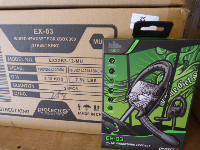 Lot 25 - *Box of 24 Ex03 Headsets for Xbox 360