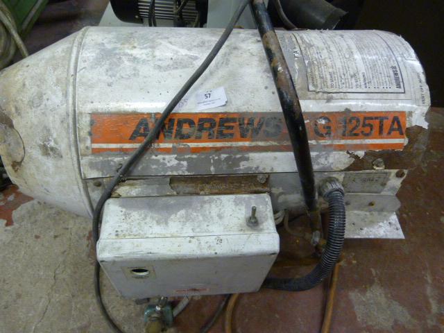 Lot 57 - Andrews G 125TA Industrial Heater