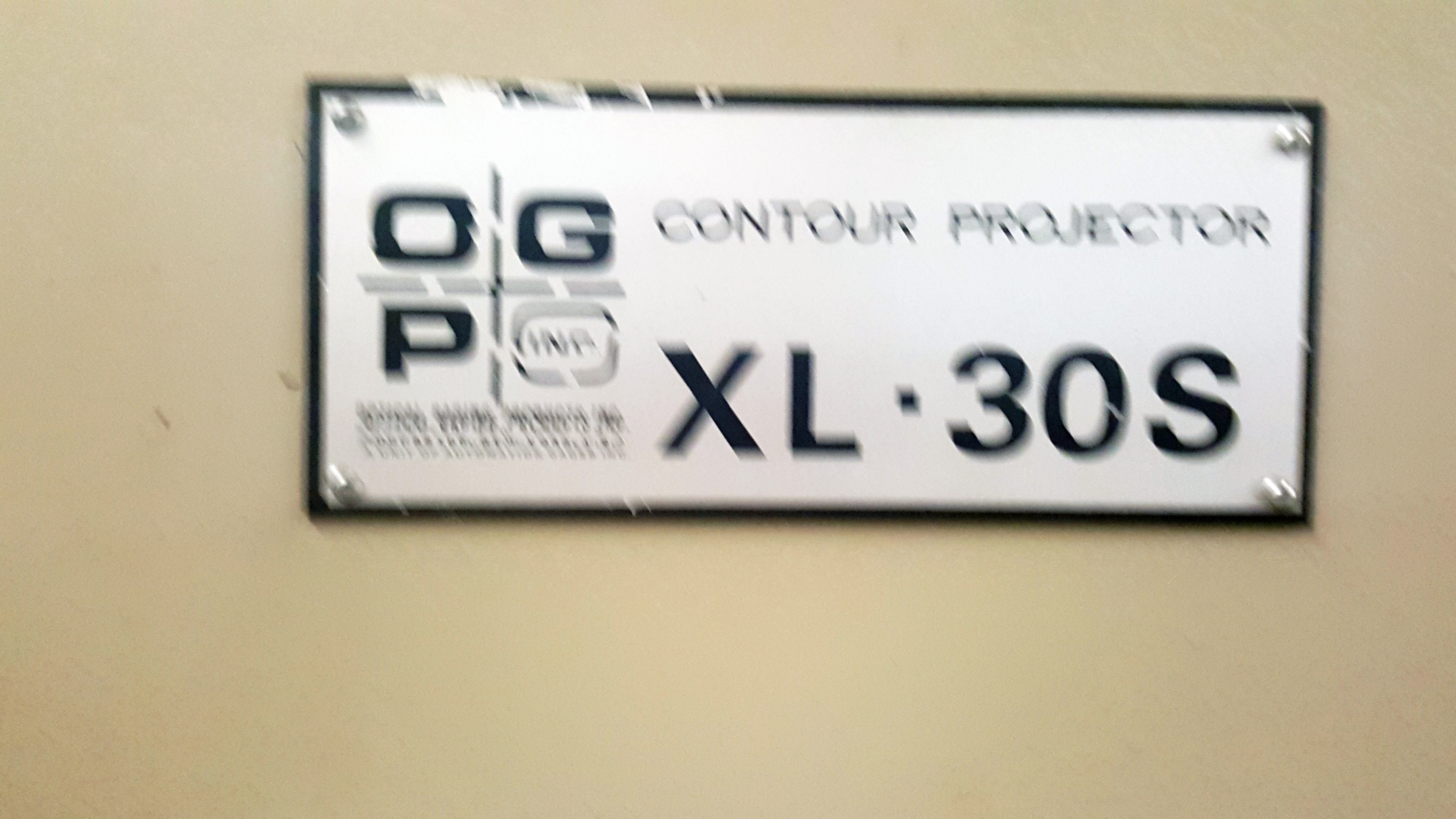 """OGP 30"""" Optical Comparator Projector, Model IXL-827, XL30S, S/N 8270292, under power - Image 6 of 8"""