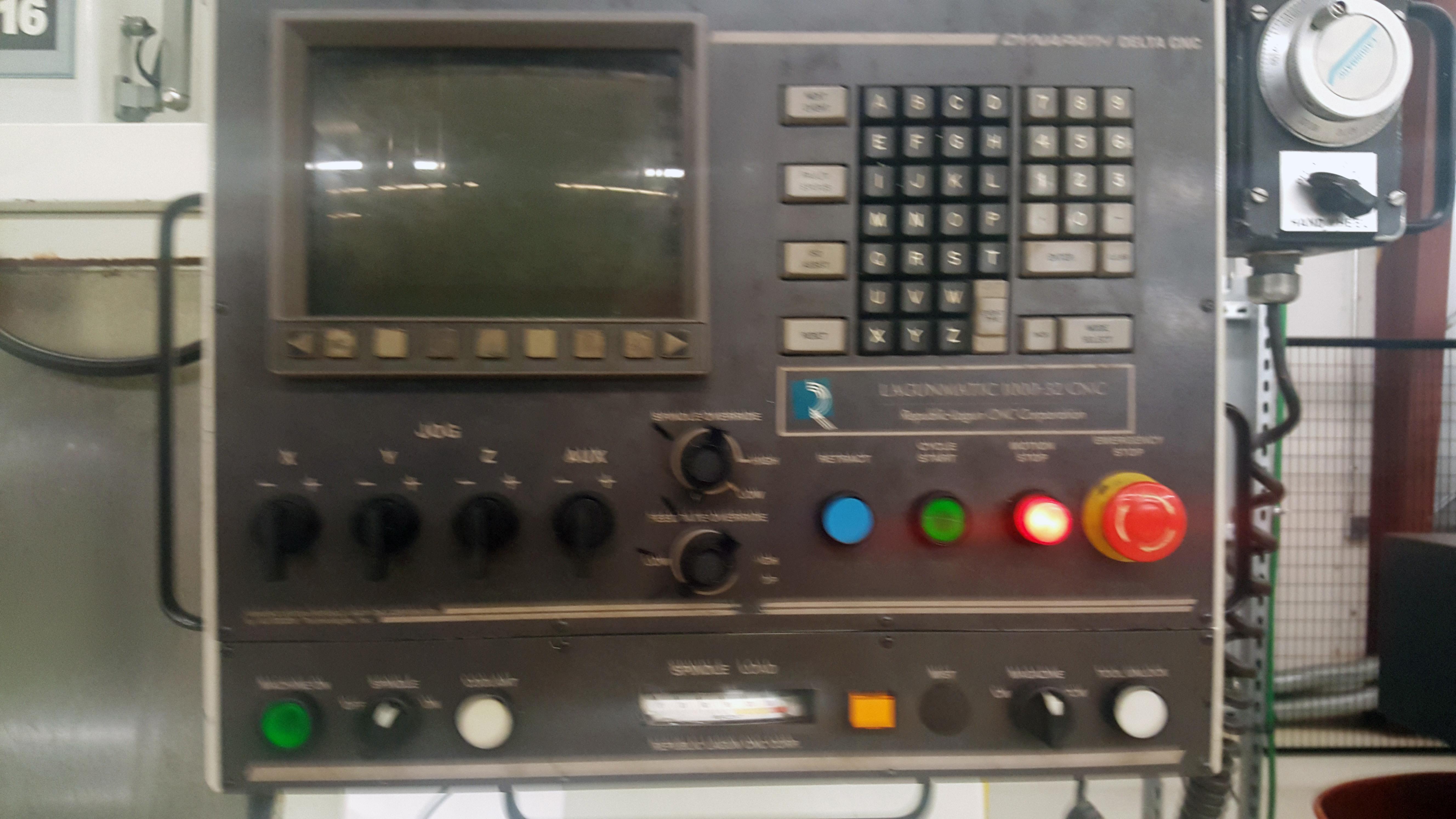 "Republic Lagun 4 Axis Model 3516 CNC Vertical Machining Center 16"" X 35"" table, 18 tools, 5000 - Image 2 of 6"