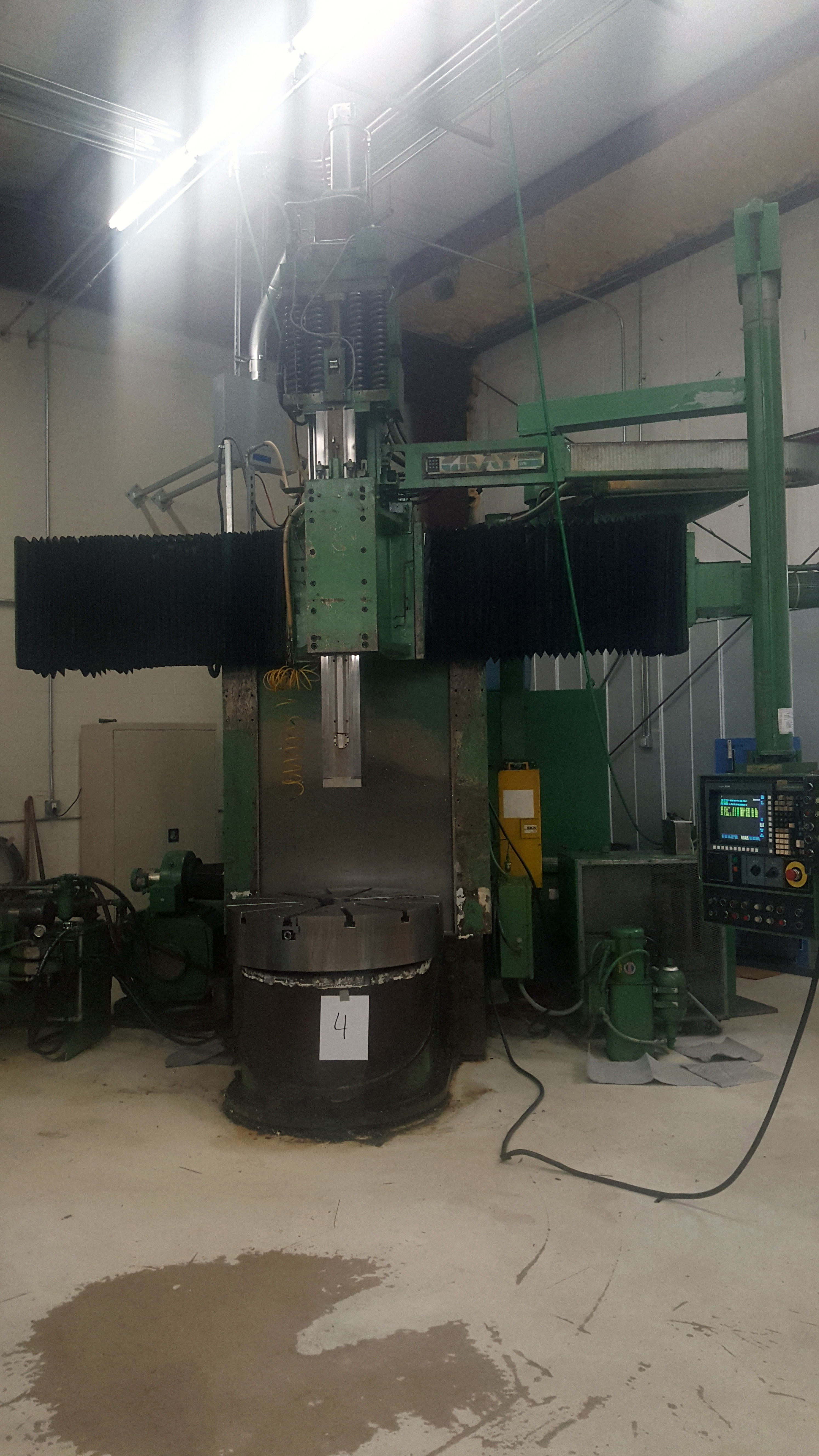 """Gray 42"""" table CNC Vertical Turing and boring lathe, Allen Bradley 8200 control, under power - Image 2 of 16"""