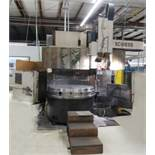 "Schiess 63"" table CNC Vertical Turret and Boring Lathe, Fanuc control, 4 way tool block and 8"