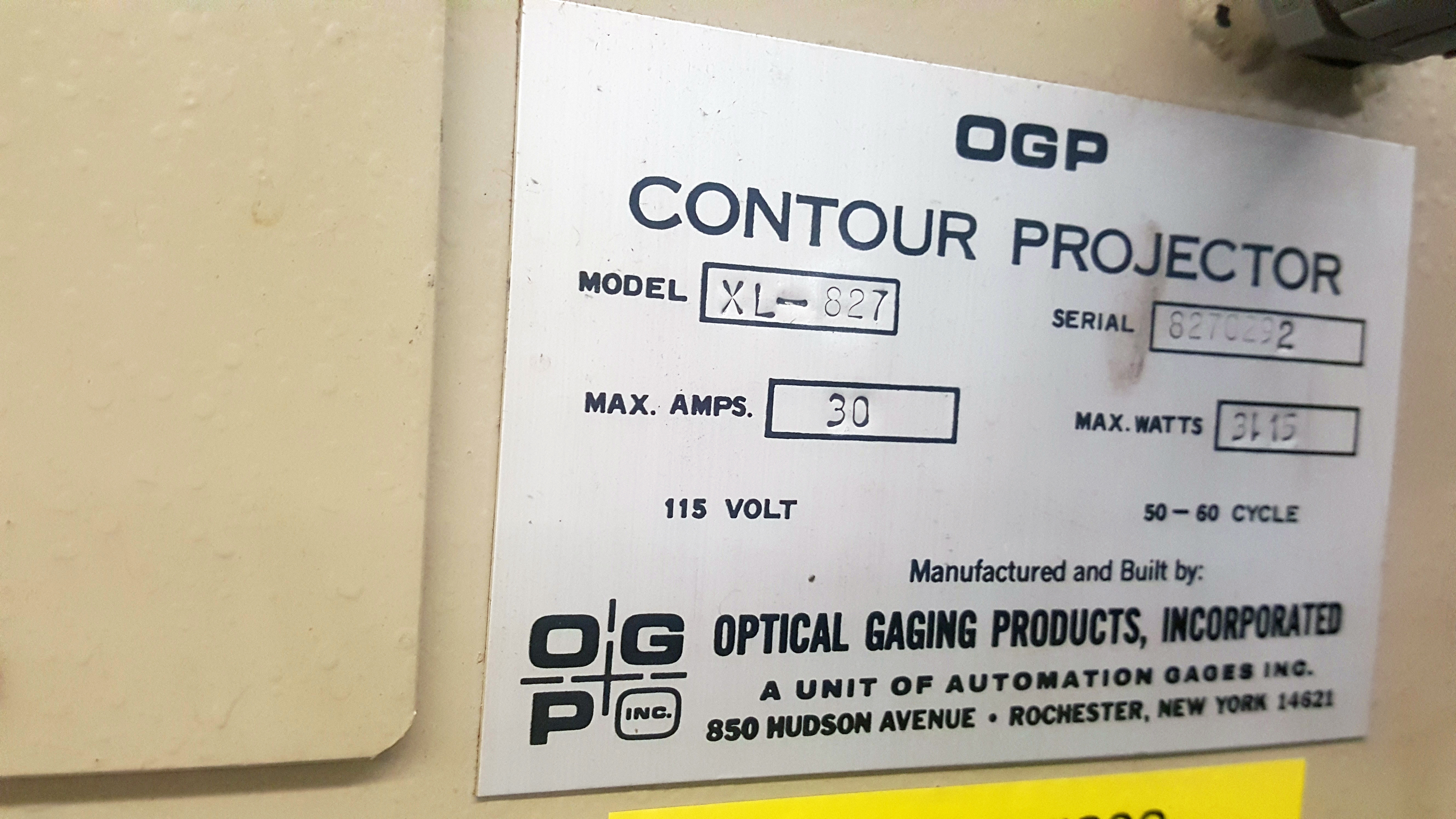 """OGP 30"""" Optical Comparator Projector, Model IXL-827, XL30S, S/N 8270292, under power - Image 7 of 8"""