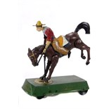 Tin Plate Toy - 'Lehmann' - 'Bucking Bronco' - Clockwork - 1920s - some wear & marks - L 16cm W