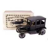 Tin Plate Toy Car - 'Bing Germany' - Clockwork 1920s 'Ford' Coupe with faux box - Some wear minor