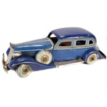 Tin Plate Toy Car - Japanese Tourer - Clockwork - Circa 1920s. - Some minor wear & marks - L 30cm