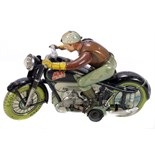 Tin Plate Toy Motorcycle - 'Arnold Germany' - Mac 700 clockwork - 1930s - some wear & marks - L 20cm