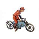 Tin Plate Toy Motorcycle - 'Lehmann' - 'Echo' - Clockwork - Circa. 1907 - some wear & marks - L 22cm