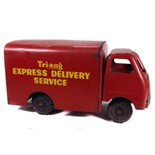 Pressed Steel Toy Delivery Van - 'Tri-ang Express Delivery Service Van' - Some wear & marks - L 40cm
