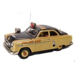 Tin Plate Police Car - 'Marusan Japan' - Clockwork - 1950s - Some wear & marks - L 26cm W 12cm