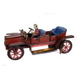Tin Plate Toy Car - 'Gunterman Germany' - Clockwork 'Open Tourer' - Circa. 1910 - some wear minor
