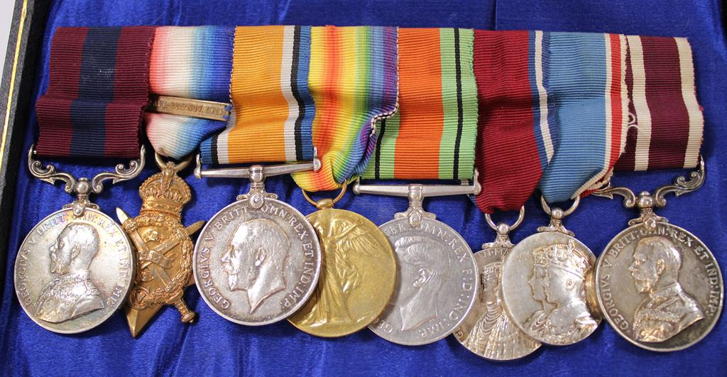 Lot 1001 - An impressive First World War D.C.M. and M.S.M. Set of eight Medals