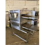 Lincoln Impinger model 1116-000A natural gas double oven conveyor