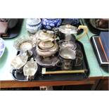Various items of silver plate etc