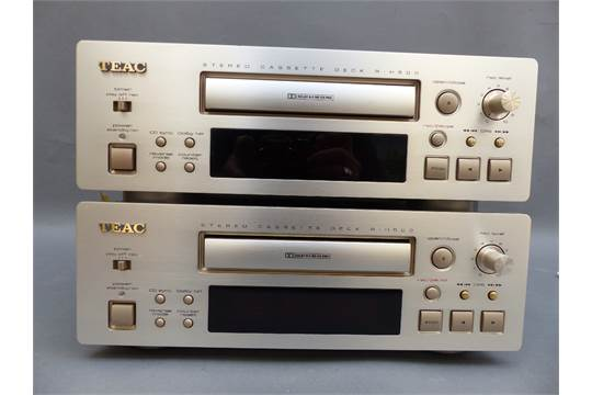 Two TEAC R-H500 stereo cassette decks with original owners