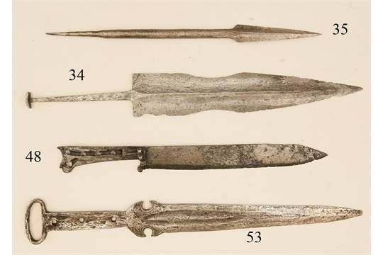 Basilard Dolch, Italien, um 1500 Eisen. An der Fehlschärfe ...