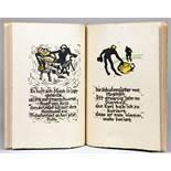 Doctor Eisenbart. Linoleumschnitte von Hermann Holthoff und Adolf Rademacher. München, Drei Masken