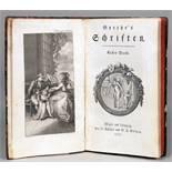 [Johann Wolfgang von] Goethe. Schriften. Erster [–] Achter Band. Wien, J. Stahel (Band 1) und