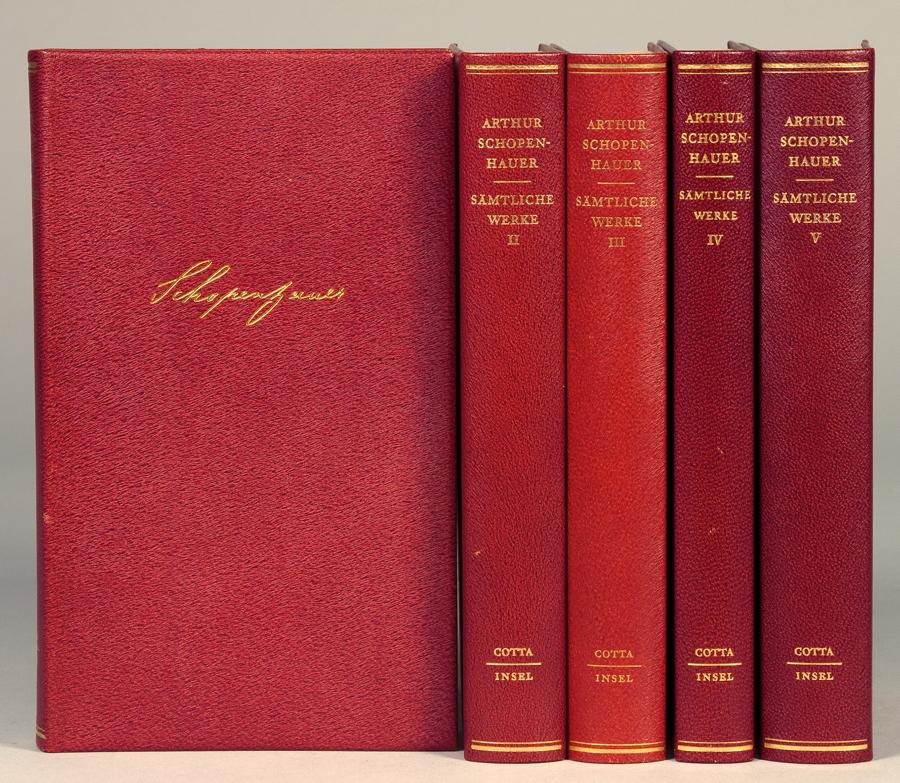 Insel Verlag - Arthur Schopenhauer. Sämtliche Werke. Textkritisch bearbeitet und herausgegeben von