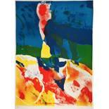Shmuel Shapiro. Drei Farblithographien, zwei aus der »Mazel-tov-Suite«. 1970/71. 75,5 : 55,0 cm.